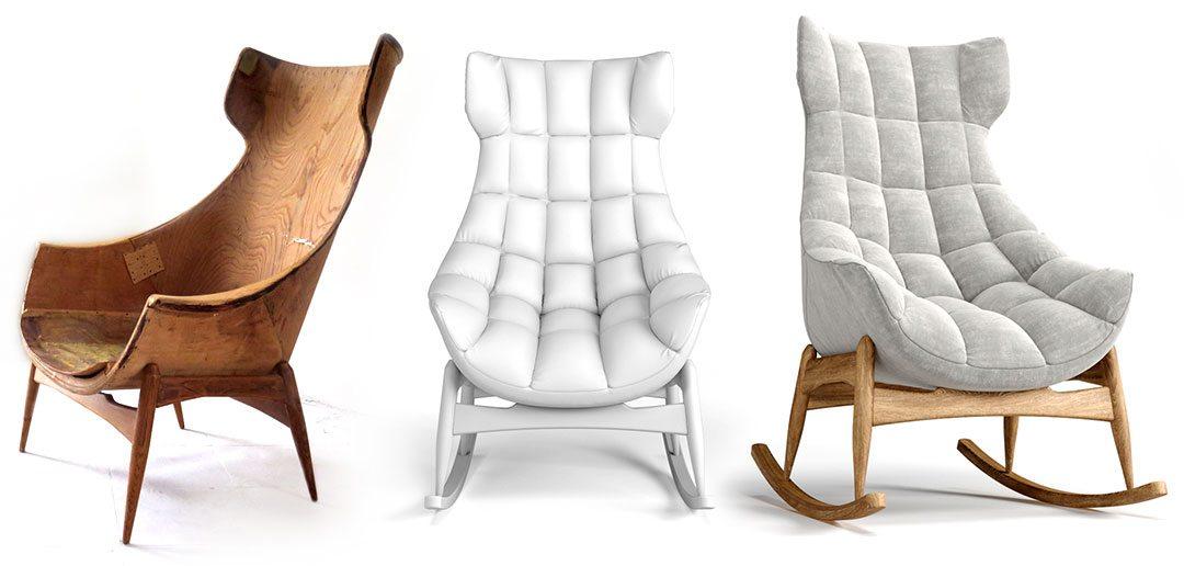 3D látványtervezés fotel - fotó, clay, látványterv