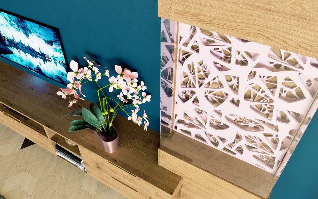 Nappali bútor 3D látványtervezése