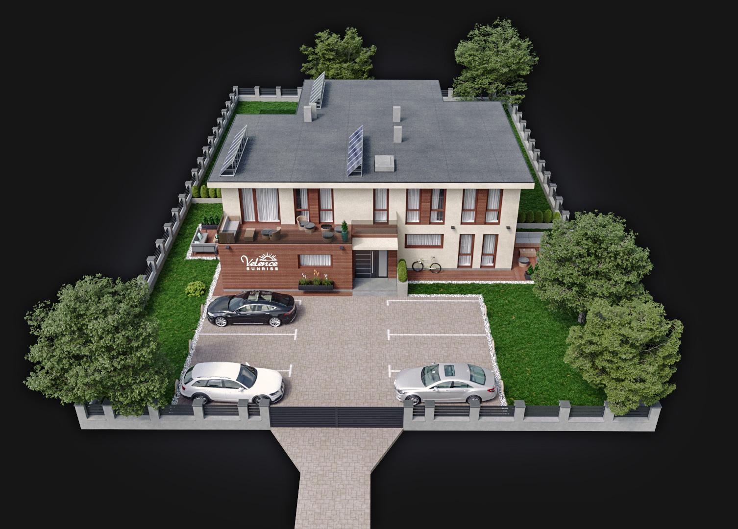 3DRendeer-3D látványtervezés-exterior felülnézet