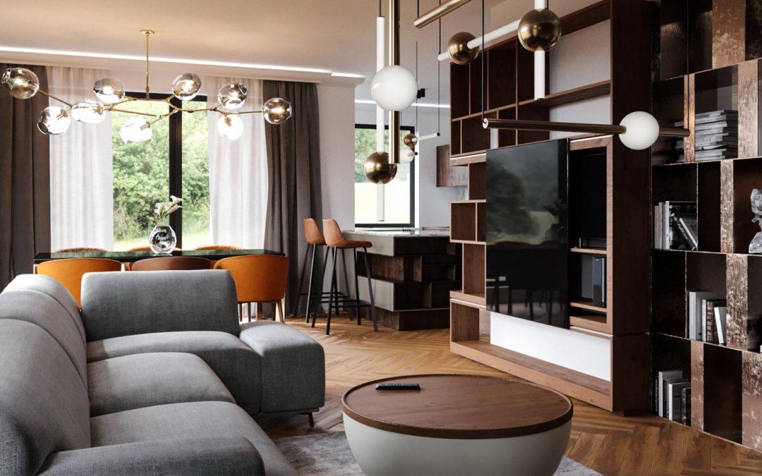 Hegyhát Villaház 3D Belsőépítészeti látványtervezés