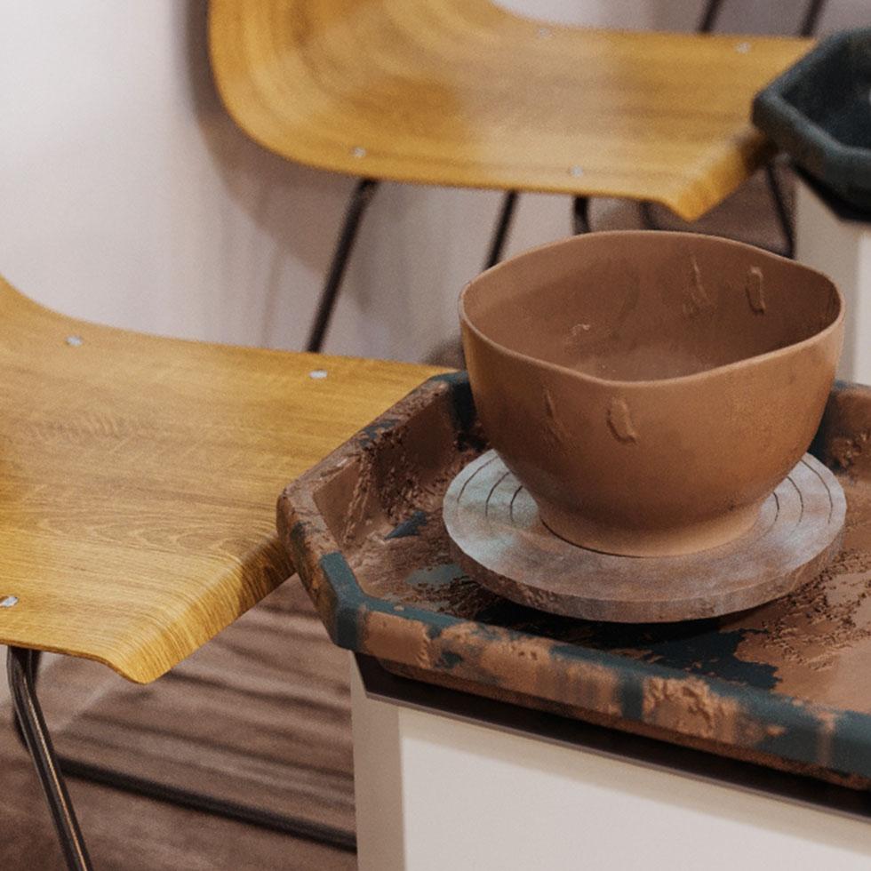 Kézműves műhely 3D látványtervezése
