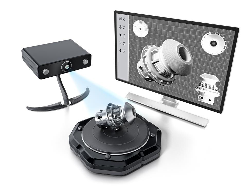3DRendeer-3D scanner illusztráció